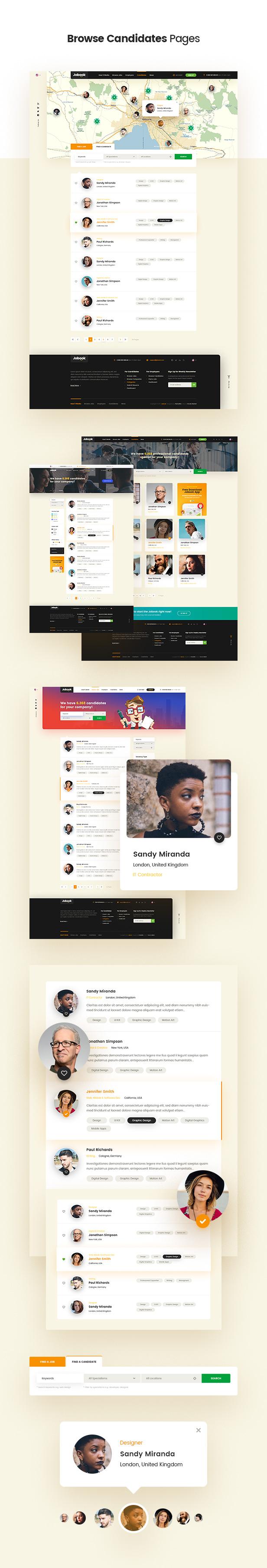 Jobook - A Unique Job Board Website PSD Template - 5
