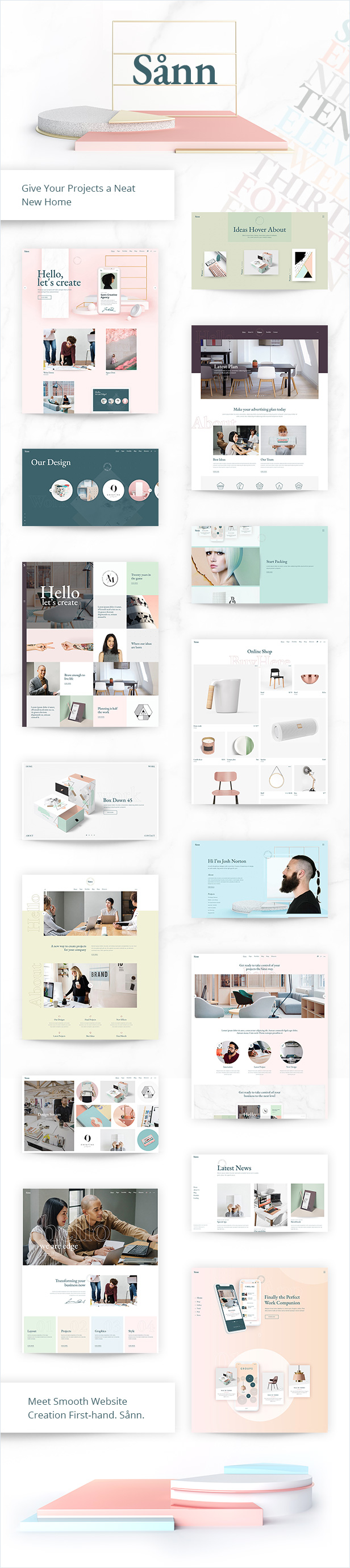 Sånn - Contemporary Creative Agency Theme - 1