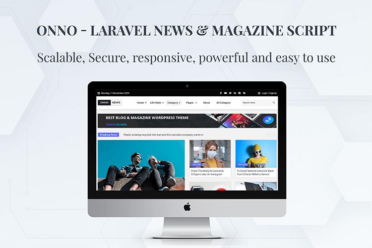 ONNO - Laravel News & Magazine Script - 4