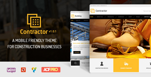 contractor company theme