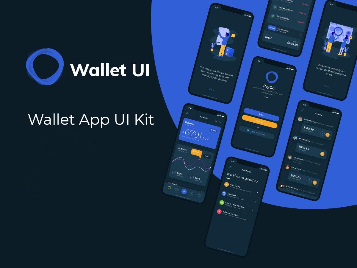 Flutter wallet ui - 1