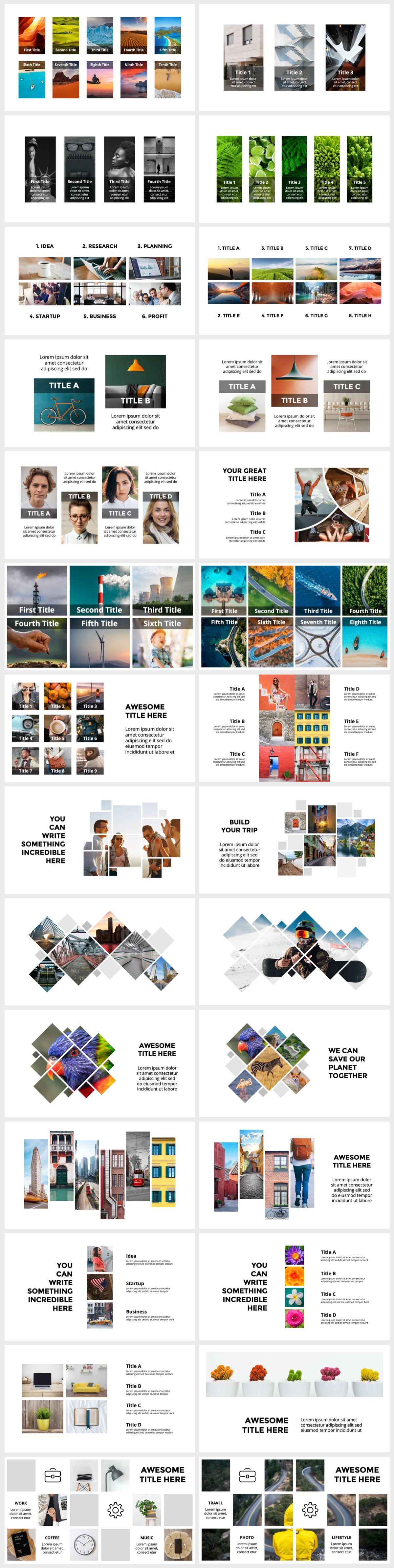 Huge Infographics Bundle! Lifetime Updates! PowerPoint, Photoshop, Illustrator. - 124