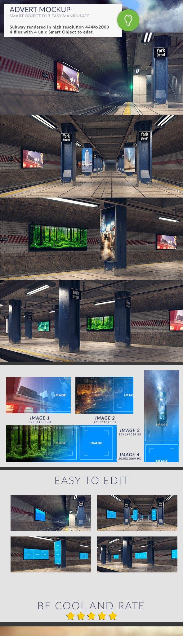 Subway Station Mockups Adverts - 1