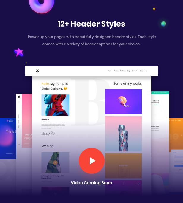 Business Agency WordPress Theme - Header Style
