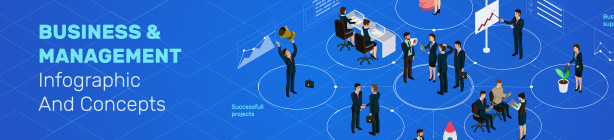 Business And Management Infographic And Concepts