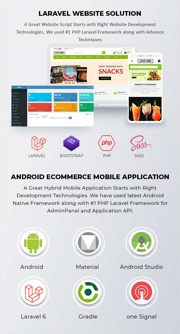 Ecommerce Solution with Delivery App For Grocery, Food, Pharmacy, Any Store / Laravel + Android Apps - 8