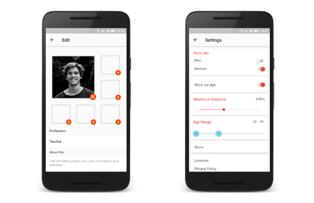NearMe | Android Dating App (Android Studio & Firebase) - 6