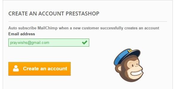 Auto subscribe MailChimp Prestashop Module