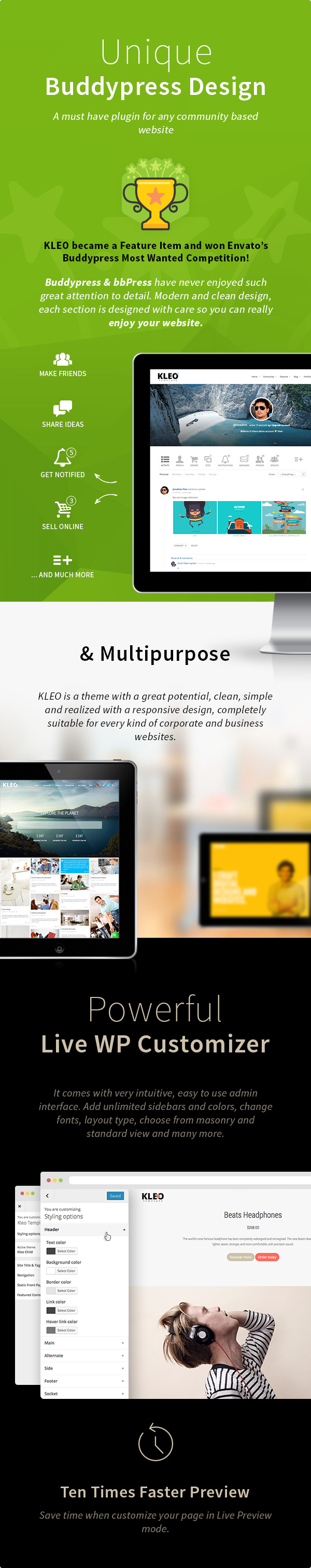 KLEO - Pro Community Focused, Multi-Purpose BuddyPress Theme - 10
