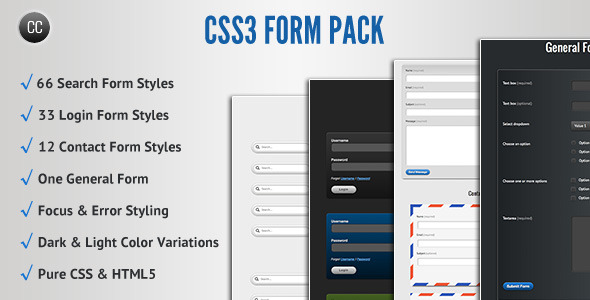 CSS3 Form Pack