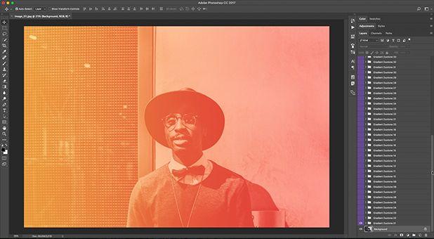 Gradient Duotone Photoshop Action