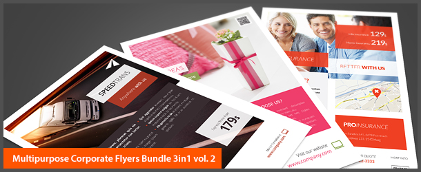Multipurpose Corporate Flyers Bundle 3in1 vol. 2