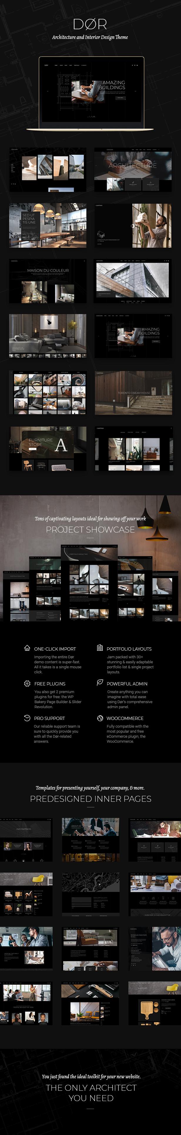 Dør - Modern Architecture and Interior Design Theme - 1