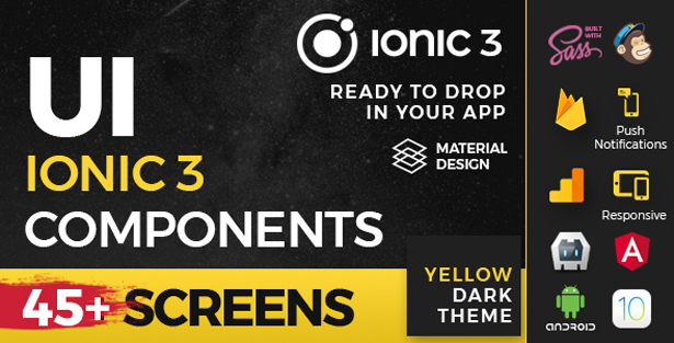 Ionic 3 / Angular 5 UI Theme / Template App - 5 in 1 Multipurpose Starter iOS 12 Style App - 2