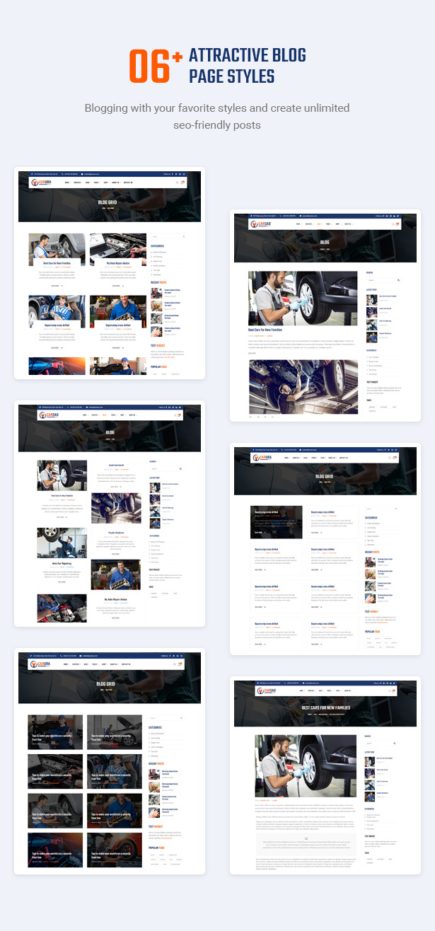 Attract Audience With Inspiring Blogs - Carsao - Car Service & Auto Mechanic WordPress Theme
