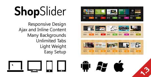 Responsive Shop Slider