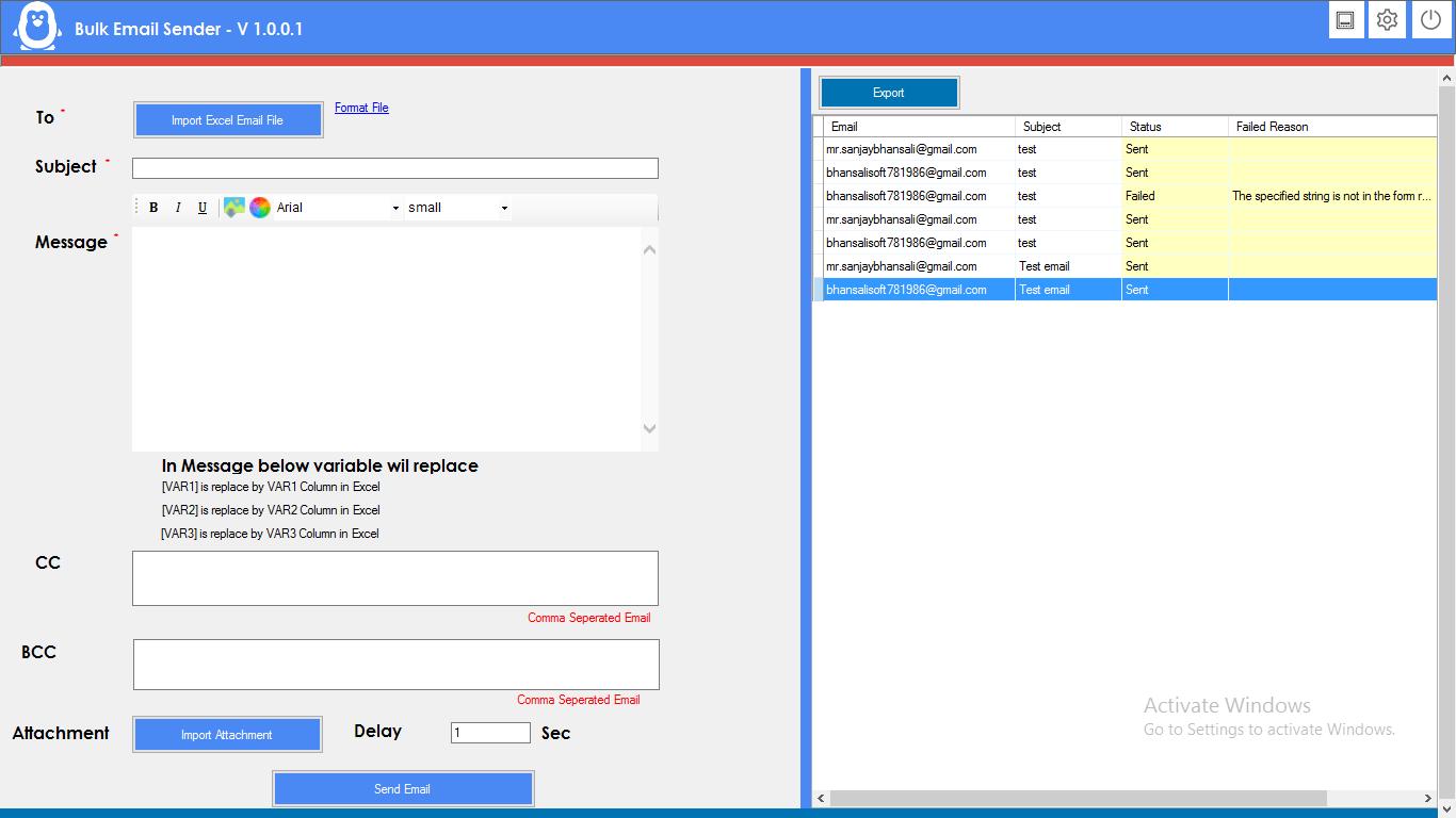 BULK EMAIL Marketing Software - 1
