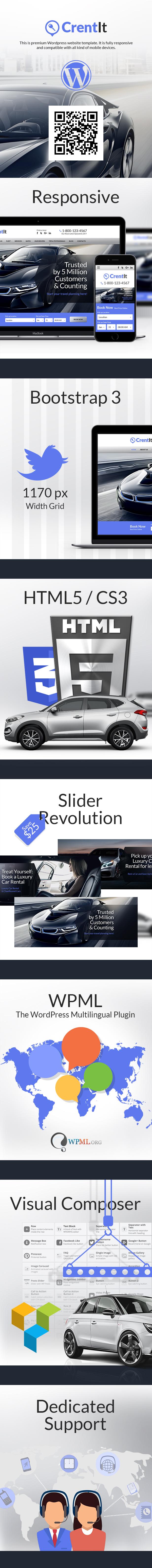 Rental Cars - Car Rental WordPress website theme