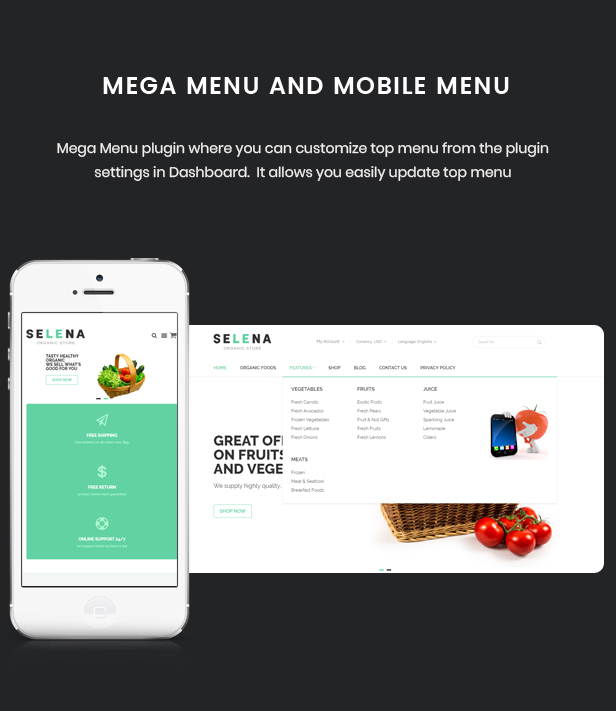 Selena - Organic Food Store Theme for WooCommerce WordPress 43