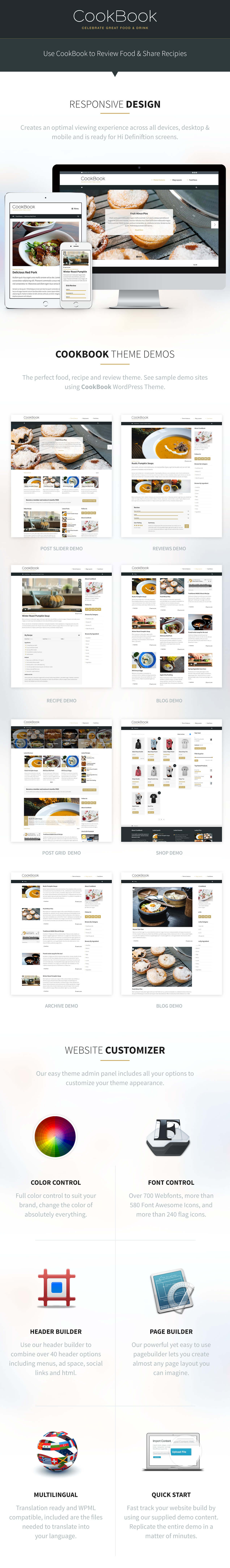 CookBook WordPress Theme