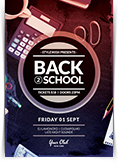 Back to School Party Flyer