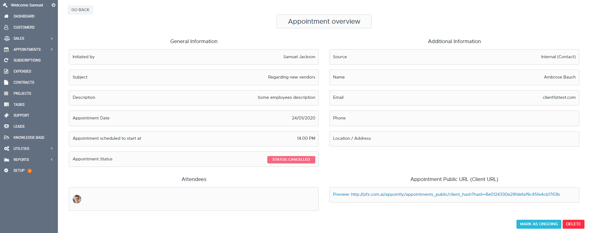 Appointly - Perfex CRM Appointments - 13