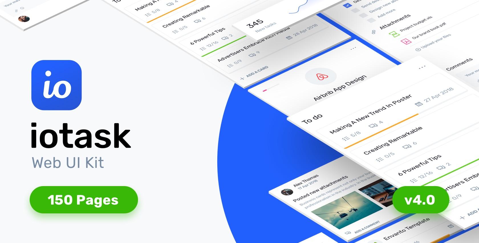 IOTask - Project Management UI Kit - Sketch Templates