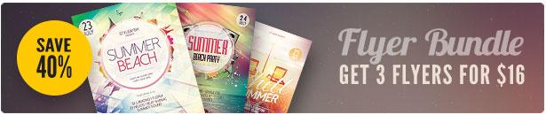 Summer Beach Party Flyer Bundle Vol.01