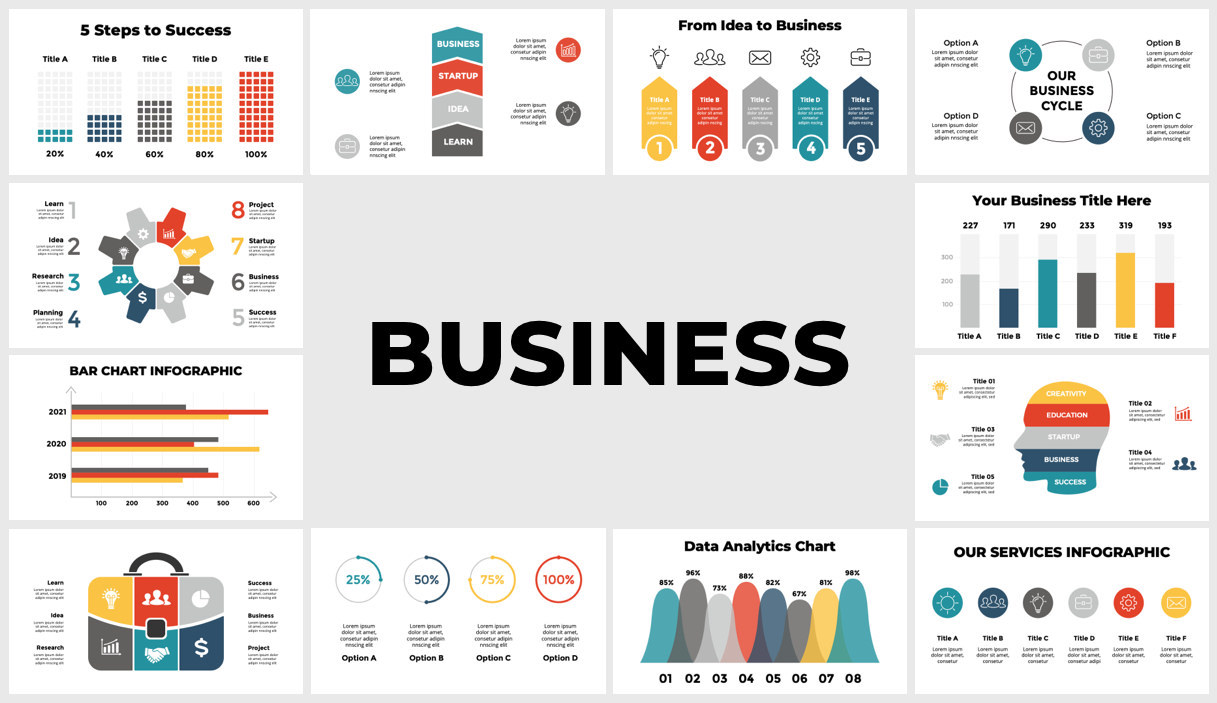 Huge Infographics Bundle! Lifetime Updates! PowerPoint, Photoshop, Illustrator. - 91