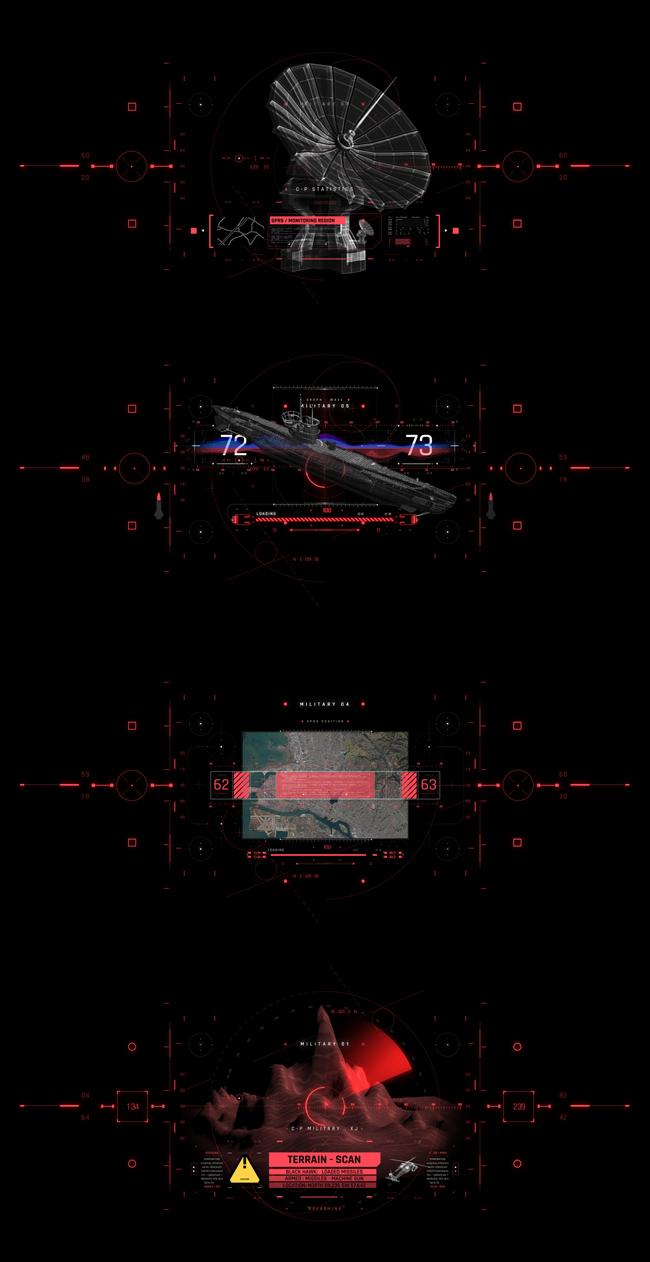 AE脚本-500个HUD高科技赛博朋克UI科幻界面元素动画预设包 Cyberpunk HUD UI 500+ 已修复中文版AE表达式报错插图16