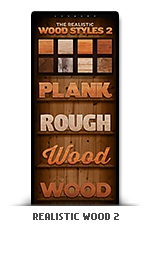 Realistic wood photoshop text effect styles 2