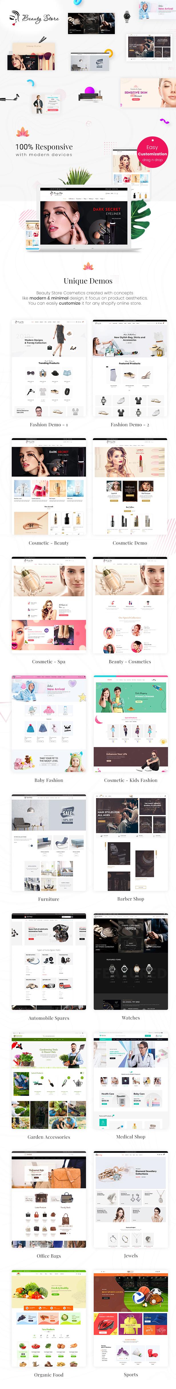 Beauty Store - Cosmetics & Fashion Shopify Theme - 1