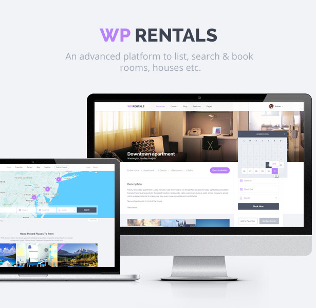WP Rentals - Booking Accommodation WordPress Theme by annapx ...