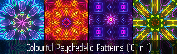 Colorful Psychedelic Patterns (10 in 1)