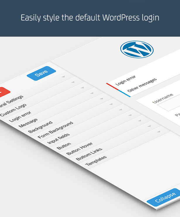 Easily style the default WordPress login