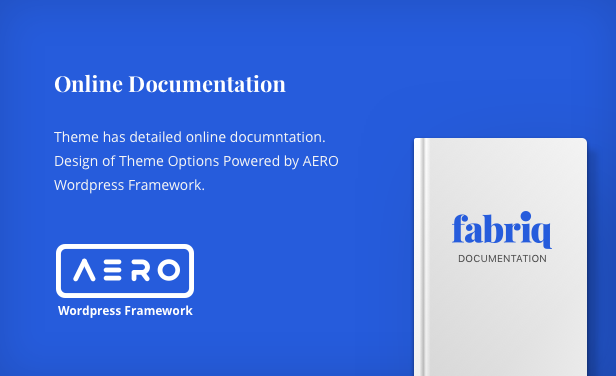 Fabriq - Personal WordPress Blog Theme