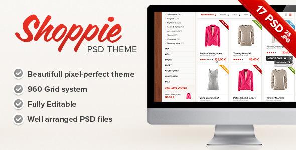 Shoppie - Responsive E-Shop HTML5 Template - 1