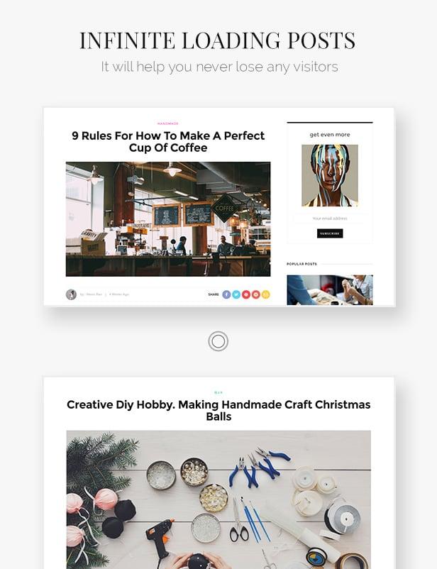 Look: Minimal Magazine and Blog WordPress Theme - 8
