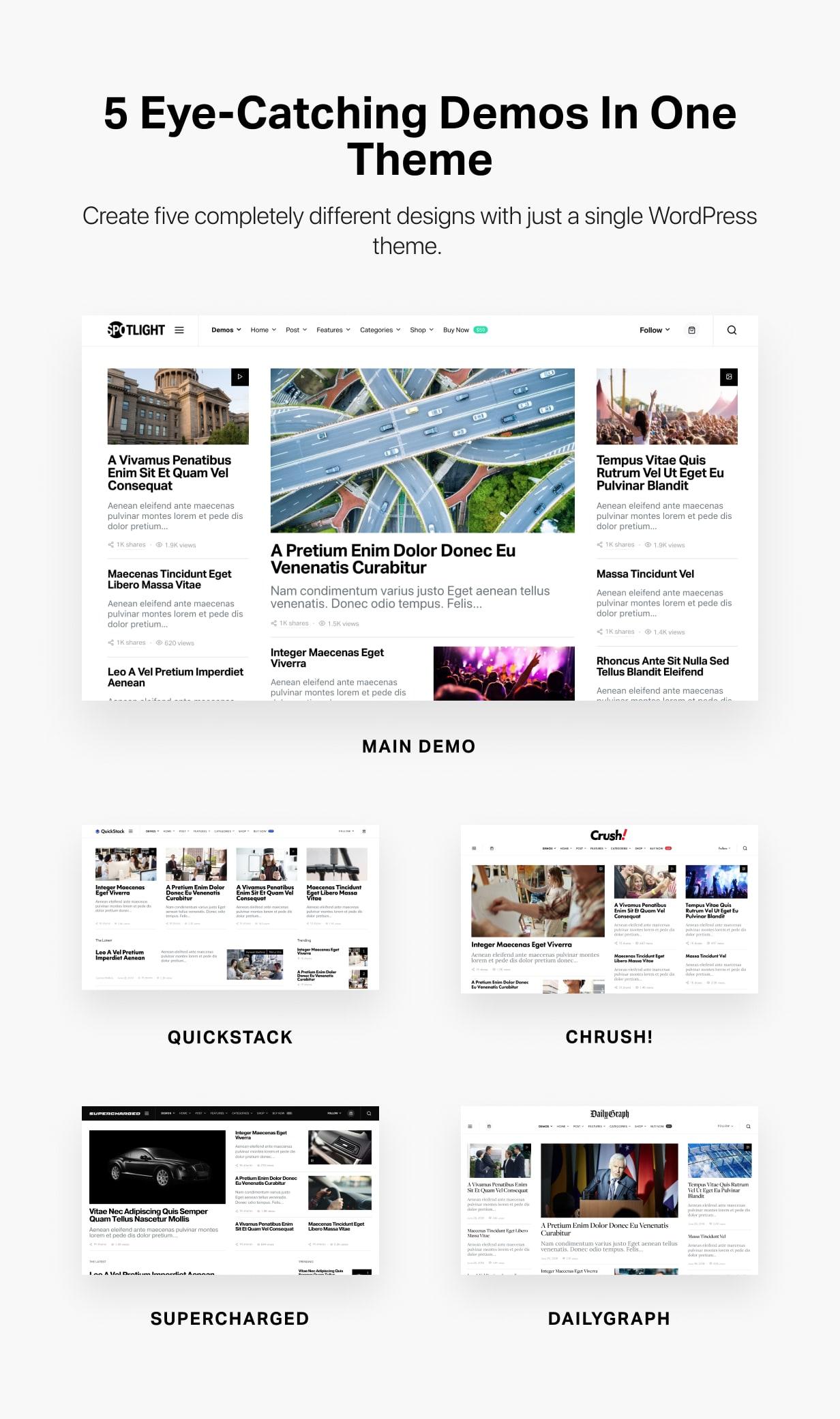 Spotlight - Feature-Packed News & Magazine WordPress Theme - 2