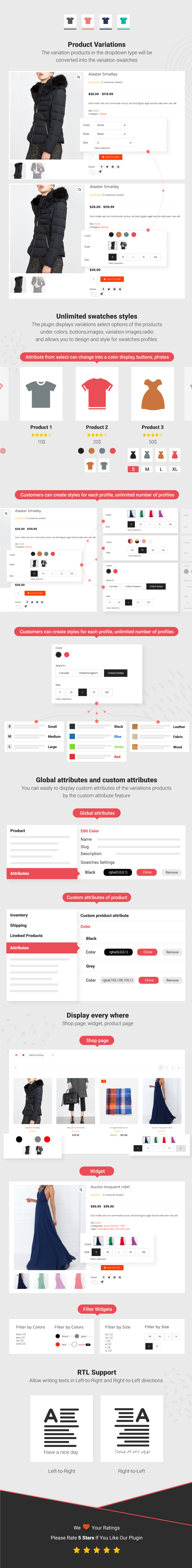 Infographic WooCommerce Product Variations Swatches