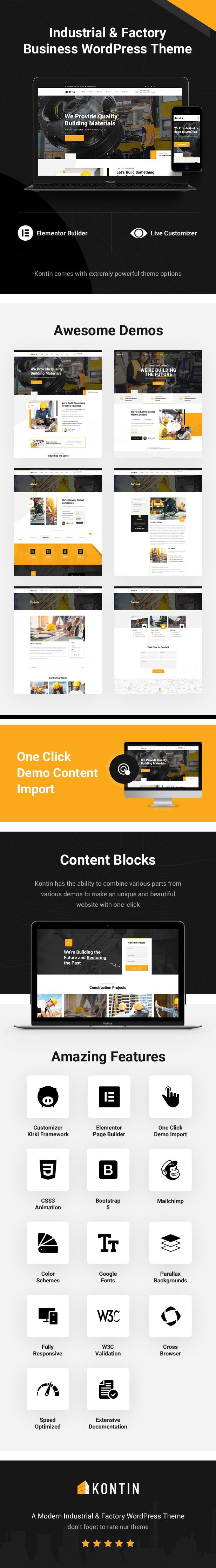 Kontin - Industrial & Factory Themeforest WordPress Theme