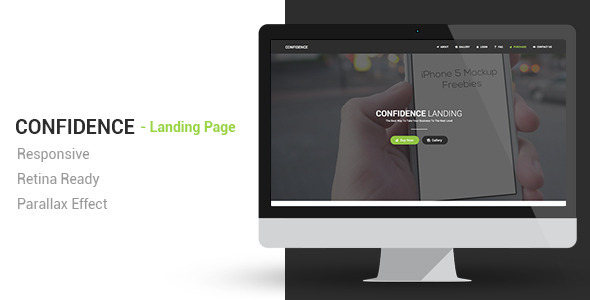 Confidence Responsive Parallax Landing Page