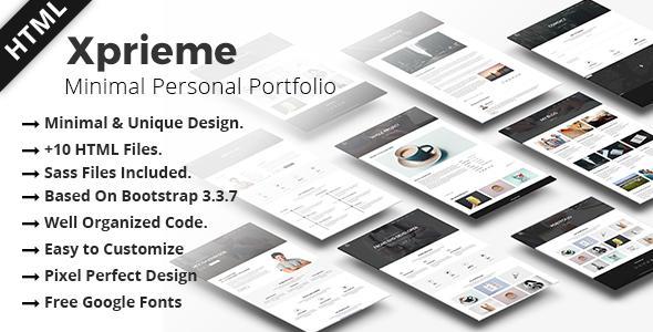 Xpreime HTML Portfolio