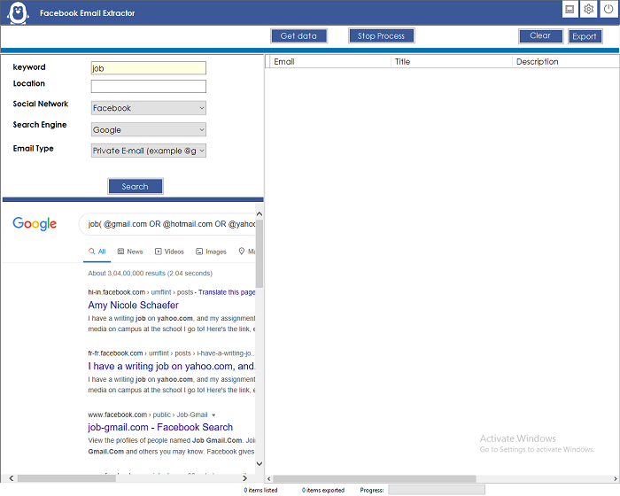 Facebook Email Extractor - 1