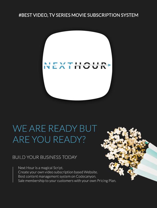 Next Hour - Movie Tv Show & Video Subscription Portal Cms Web and Mobile App - 2