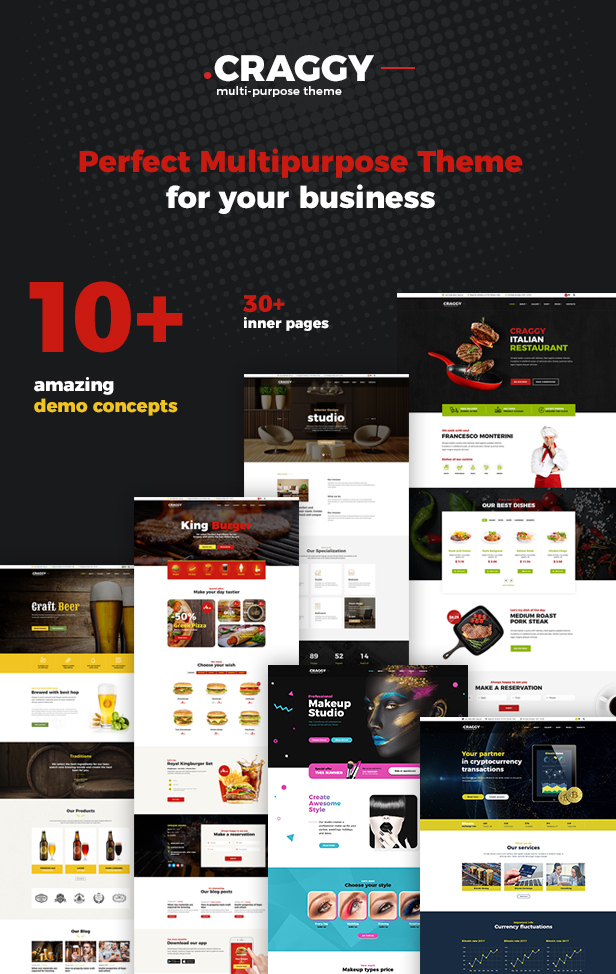 Craggy - Food Delivery, Services & Bitcoin Crypto Currency Multi-purpose WordPress Theme - 5