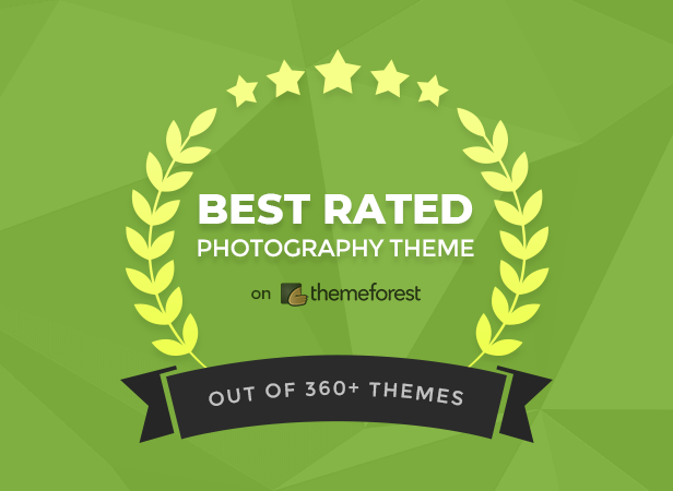 Best Rated Photography WordPress Theme on Themeforest