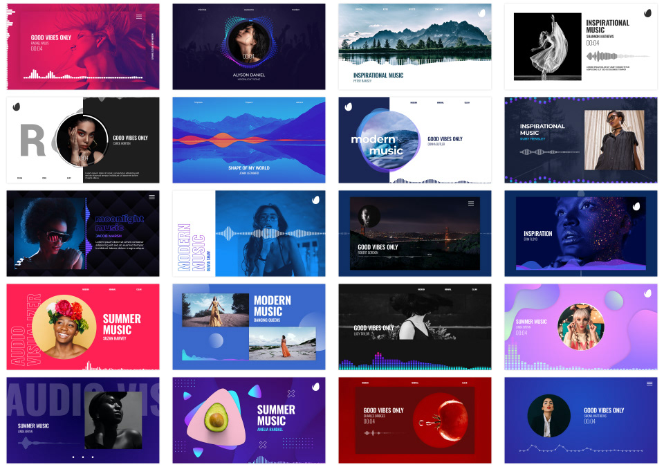Audio Visualizations Pack - 1