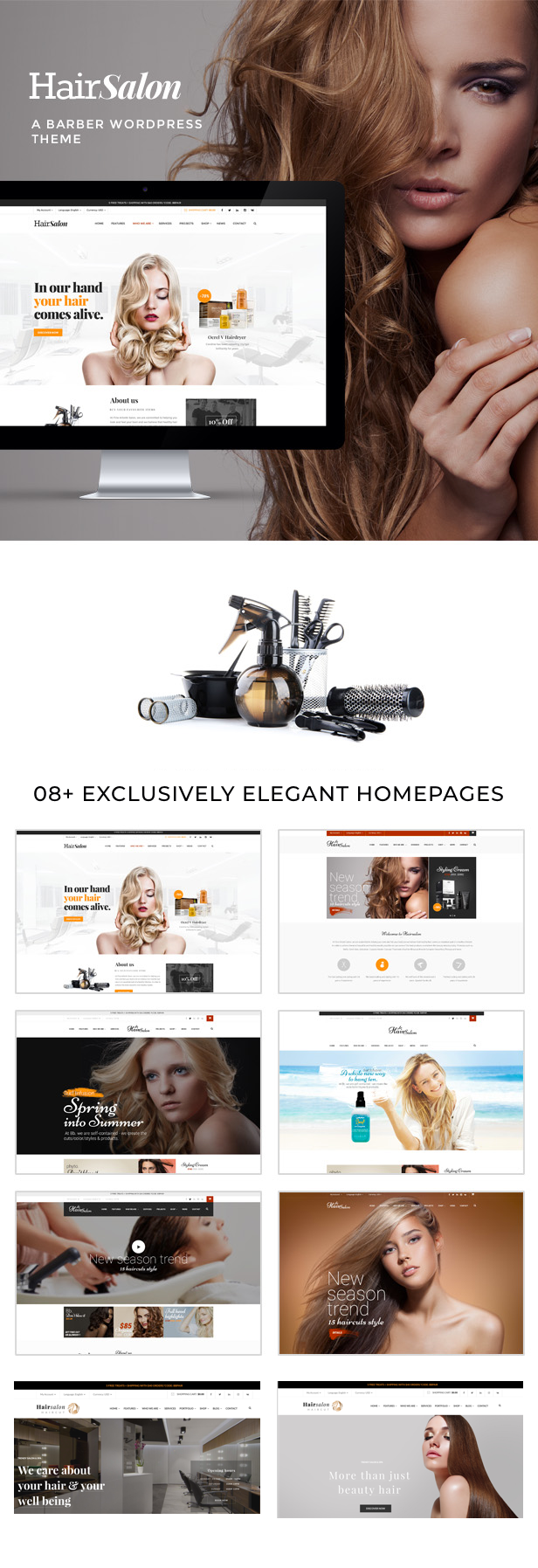 Hair Salon - Barber & Beauty Shop WordPress Theme - 4