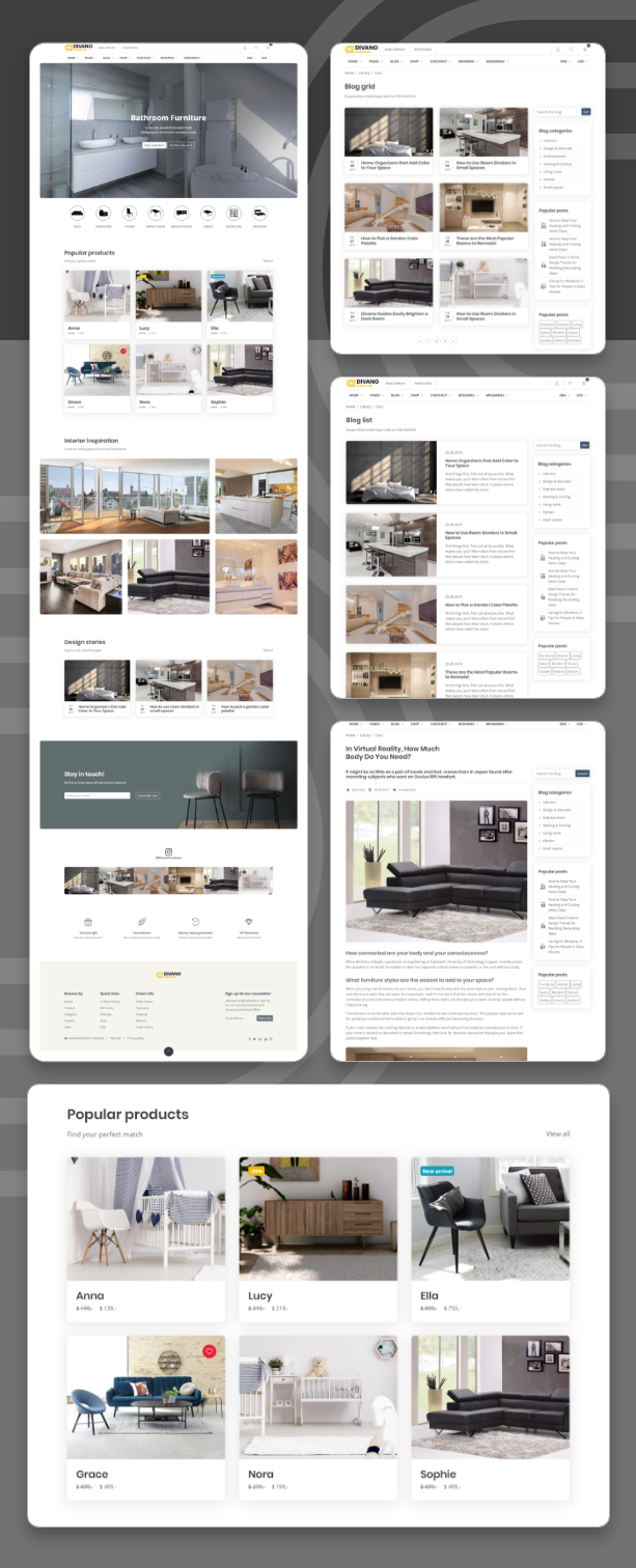Divano v1.0-简约大气的家具公司/家居用品HTML网站模板插图4